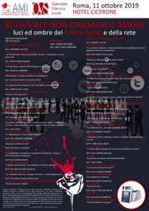 """""""SE FA MALE NON CHIAMARLO AMORE. Luci ed ombre del Codice Rosso e della rete"""" @ Roma, Hotel Cicerone"""