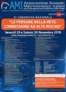 """XI CONGRESSO NAZIONALE AMI - LE PERSONE NELLA RETE: """"CONNESSIONE AD ALTO RISCHIO"""" @ Residenza di Ripetta - Roma"""