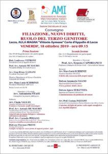 Filiazione, nuovi diritti, ruolo del terzo genitore @ Lecce, Aula magna Vittorio Aymone della Corte d'Appello
