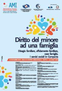Diritto del minore ad una famiglia: disagio familiare, affido familiare, case famiglia. I servizi sociali in Campania @ Napoli, Sala C3 Centro direzionale