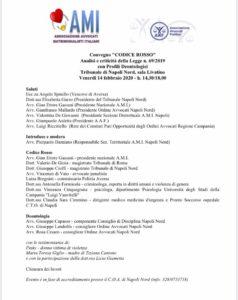 """Convegno """"Codice Rosso"""": Analisi e criticità della Legge n. 69/2019 con profili deontologici @ Tribunale Napoli Nord, Sala Livatino"""