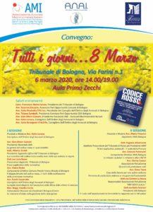 """Convegno """"Tutti i giorni ...... 8 marzo"""" @ Bologna, Tribunale di Bologna, Aula Primo Zecchi"""