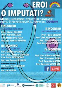EROI O IMPUTATI? MEDICI, INFERMIERI, STRUTTURE SANITARIE PROFILI DI RESPONSABILITA' AL TEMPO DEL COVID 19 @ FIRENZE - ONLINE