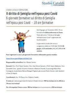 Il diritto di famiglia nell'epoca post Covid @ Webinair