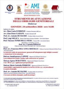 Strumenti di attuazione degli obblighi genitoriali @ Webinar - Lecce