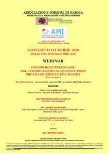 WEBINAR  CONNESSIONI PERICOLOSE: DAL CYBERBULLISMO AL REVENGE PORN PROFILI GIURIDICI E PSICOLOGICI @ Parma - webnair