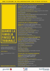 QUANDO LA FAMIGLIA FINISCE IN TRIBUNALE @ webinair