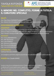 Il minore nel conflitto, forme di tutela: il curatore speciale @ Salerno, webinair