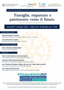 Famiglia, risparmio e patrimonio verso il futuro @ Vallo della Lucania