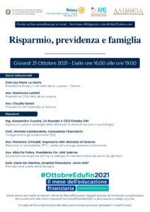 Risparmio, previdenza e famiglia @ webinar Vallo della Lucania