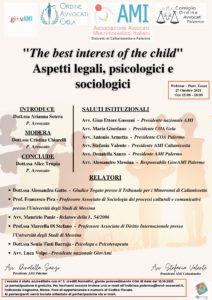THE BEST INTEREST OF THE CHILD @ PALERMO WEBINAR